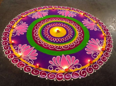 Diwali 2017: Design for Rangoli which decorate your floor.