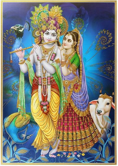 Radha, who was angry with Shri Krishna, said,