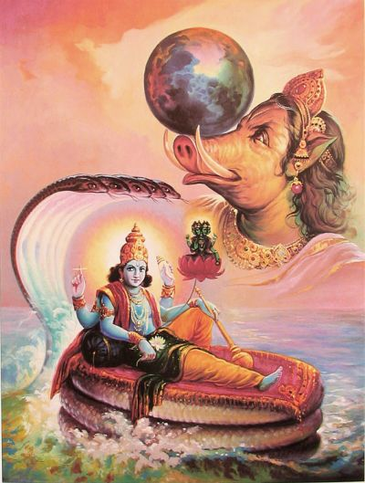 To kill this demon, Lord Vishnu took Varaha Avatar