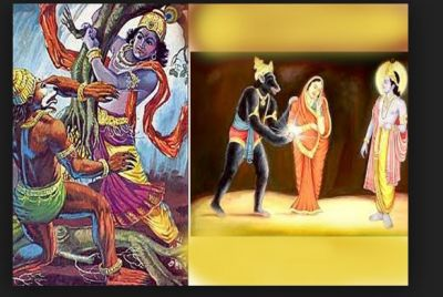 Jamavant had the battle with Shri Krishna