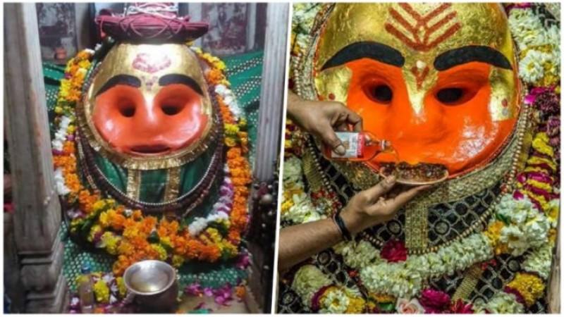 मप्र के इस मंदिर में खुद भगवान पीते हैं शराब, मुंह से लगाते है खाली हो जाता है प्याला