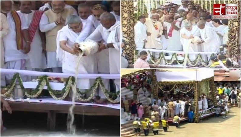 Atal Ji's mortal remains immersed in Ganga, millions of people gather to pay homage