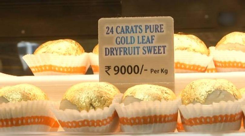 Sweets worth Rs.9000/Kg being sold on Rakshabandhan in Surat