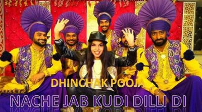 Dhinchak Pooja 's new song  'Nache Jab Kudi Dilli Di' is out, HATE it or LOVE it but you can't ignore it