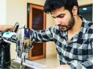 Varun Dhawan gets shaved by a local barber