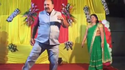 Viral video: Dancing uncle shows off some awesome Govinda-style dance moves