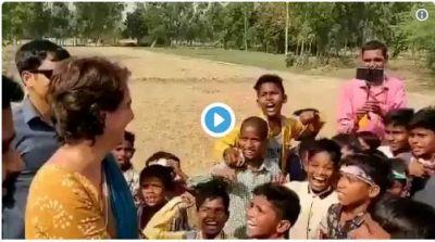 Viral Video! Priyanka Gandhi Vadra campaign video, children abusing PM Modi and praised Rahul Gandhi