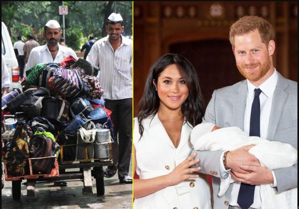 Mehan Markle and Prince Harry royal child get an amazing gift from Mumbai Dabbawalas