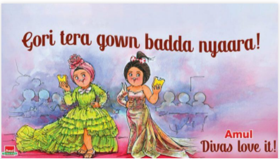 Cannes 2019: Amul India beautiful remind Deepika and Aishwarya Cannes look