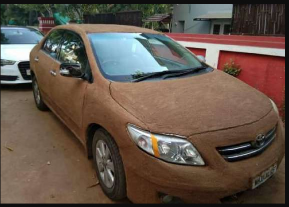 Ahmadabad women painted Cow Dung on Car become an internet sensation