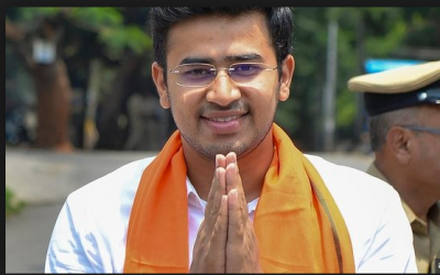 BJP Youngest MP Tejasvi Surya shares his life 'Oh Man' moment in twitter