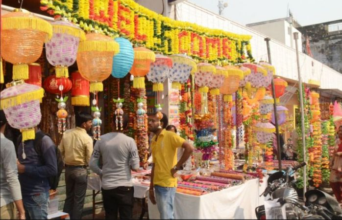 Diwali Markets are full with decorative items to illuminate houses