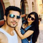 'Naagin' with her Reel life Husband