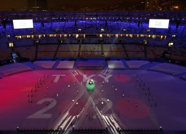 The closing ceremony of Rio Olympics ends with light,music and rain !