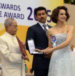 Amid her personal life clashes, Kangana Ranaut steel the National Award show
