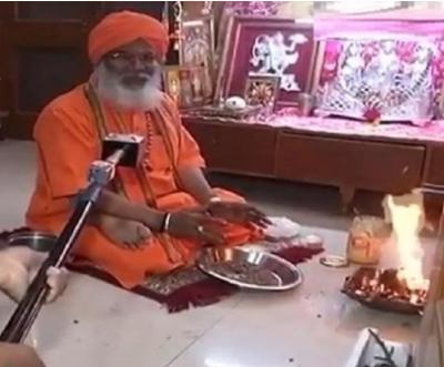 BJP MP Sakshi Maharaj doing yagya to remove coronavirus
