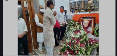 CM Shivraj pay tribute to Lalji Tandon on his birth anniversary