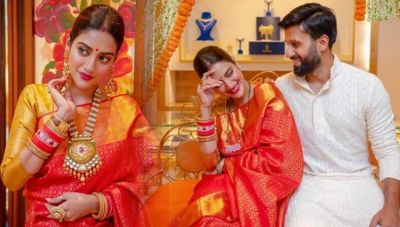Hariyali Teez: Nusrat Jahan's Beautiful Look with her husband goes viral, check it out here
