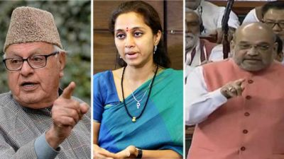 Amit Shah's reply to Supriya Sule, said 'Farooq Abdullah was not arrested...'
