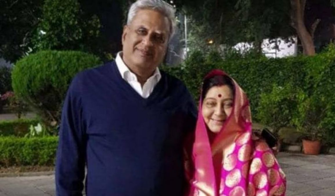 Sushma's name recorded with her husband in Limca Book of World Records