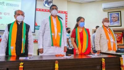BJP shows strength in presence of Vasundhara Raje