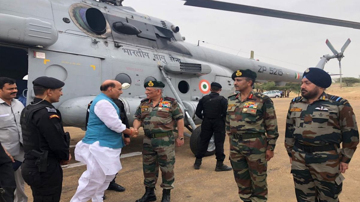 Defence Minister Rajnath Singh arrives in Jaisalmer to pay tribute to former PM Atalji