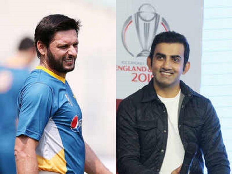 Gambhir responded to Afridi's tweet on Kashmir issue, lambasted Pakistan cricketer fiercely