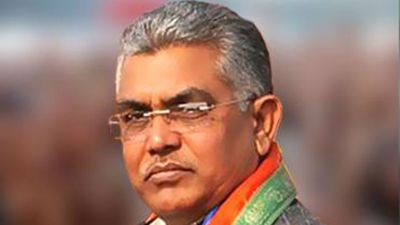West Bengal BJP President Dilip Ghosh attacked by mob in Kolkata's Lake Town