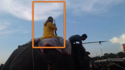 MLA Vinay Bihari seen with rifle in hands while riding Elephant, Police turned mute spectator