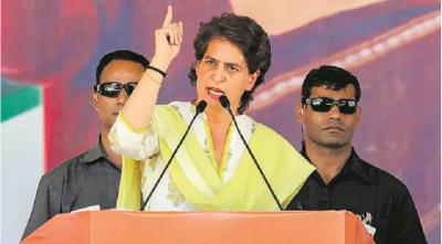 Priyanka Vadra attacks Modi Government over GDP,  says, 'it has punctured the economy'