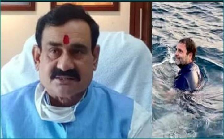 राहुल गाँधी को लेकर बोले नरोत्तम मिश्रा- 'पप्पू मछली पकड़ रहे हैं'