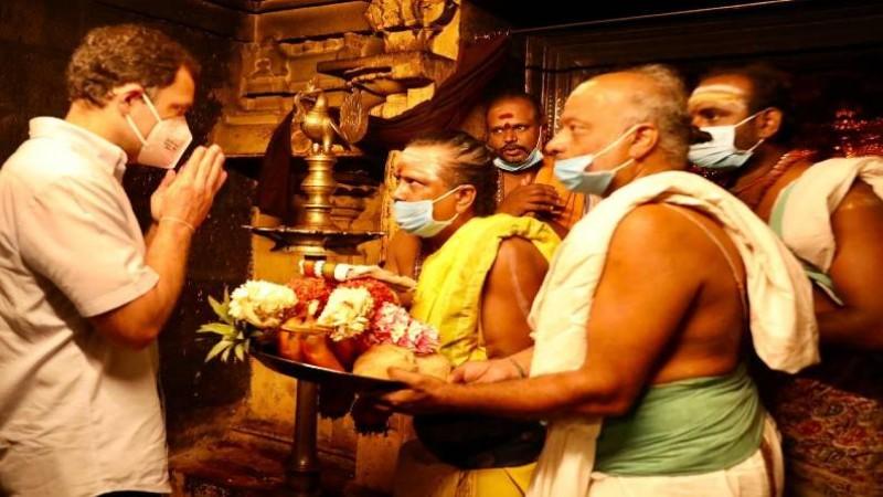 अरुलमिगु नेल्लईप्पर मंदिर में राहुल गांधी ने की पूजा, मुख्यमंत्री पलानीस्वामी को लेकर कह डाली ये बात
