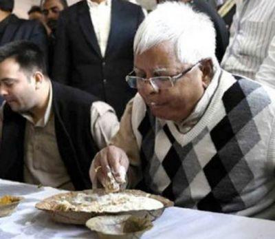 In order to wish Lalu good luck on Makar Sankranti, jailer arrange special dishes in jail.
