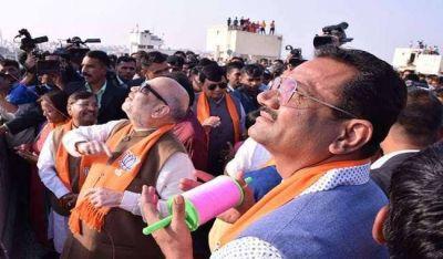 Makar Sankranti 2020: Kite flying in Jaipur, Amit Shah also enjoyed with BJP workers