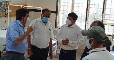 MLA Akash Kailash Vijayvargiya reaches PC Sethi Hospital to inspect arrangements