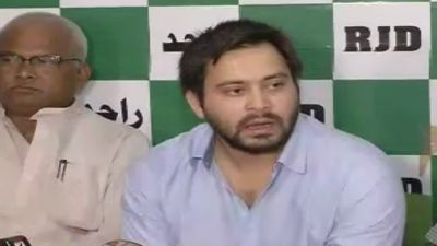 Tejashwi Yadav meets Lalu, addressed press conference