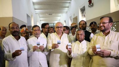 Special cards distributed to UP MLAs, will get entry in Assembly on showing it