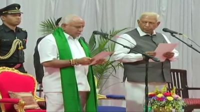Yeddyurappa becomes Karnataka's CM for the fourth time
