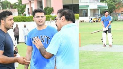 Unique cricket match played in Rajasthan, MLA Sachin Pilot becomes captain!