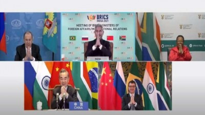 BRICS countries meeting on Corona crisis concluded with 'Namaste'