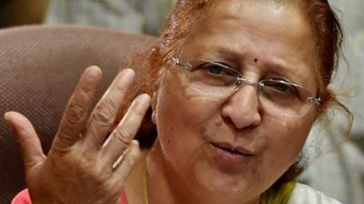 Sumitra Mahajan writes to Railway Minister on massage in trains