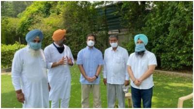 3 MLA's who rebelled against AAP and formed Punjab Ekta party merged with Congress, met Rahul Gandhi in Delhi