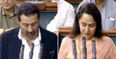 Neither in Hindi nor in Punjabi, Sunny Paji took the oath in this language, Hema Malini was also present