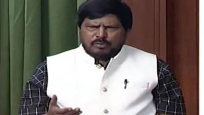 Ramdas Athawale recite his poem in the Lok Sabha