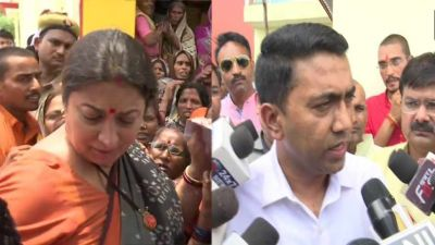 Smriti Irani engaged in the development work of Amethi; reaches her parliamentary constituency