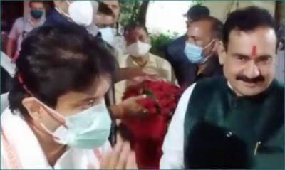 MP: Jyotiraditya Scindia meets Narottam Mishra