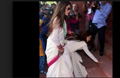 Nusrat Jahan got trolled for applying sindoor on the forehead despite being a Muslim