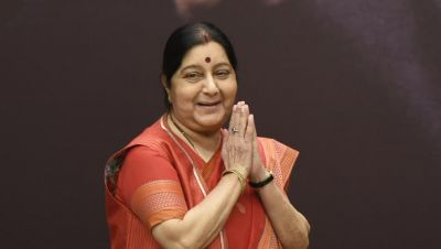 Former External Affairs Minister Sushma Swaraj finally had to vacate her place
