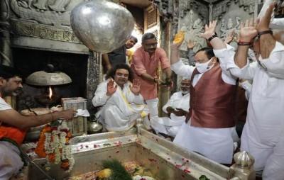 Nadda duly worshiped Varanasi's iconic Kashi Vishwanath temple today
