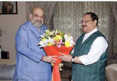 Amit Shah meets Nadda after Bihar results